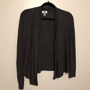 Heather Charcoal Grey Lightweight Open Cardigan